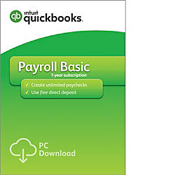 QuickBooks Desktop Payroll Basic 2018 Download