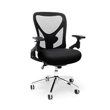OFM Stratus High-Back Chair, Black/Chrome