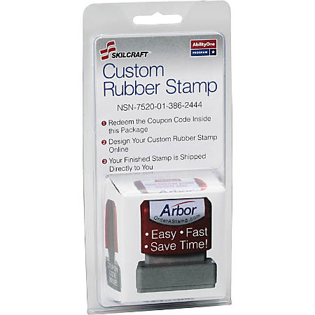 SKILCRAFT® Custom Self-Inking Stamp Order Kit