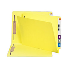 Smead Color End Tab Folders With