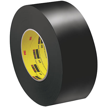 "3M™ 226 Masking Tape, 3"" Core, 2"" x 180', Black, Pack Of 24"