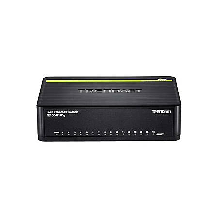 TRENDnet 16-Port 10/100 Mbps GREENnet Switch