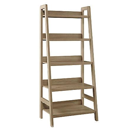 Linon Layla 5-Shelf Ladder Bookcase, Gray