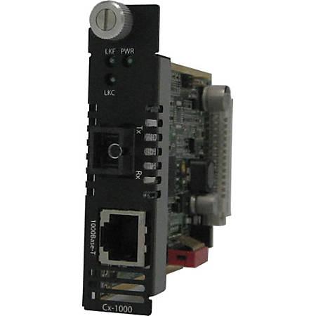 Perle CM-1000-S1SC20U Gigabit Ethernet Media Converter - 1 x Network (RJ-45) - 1 x SC Ports - 1000Base-T, 1000Base-BX - Internal