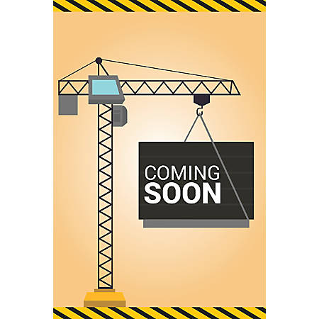 Custom Floor Decal Template, FDV Coming Soon Construction