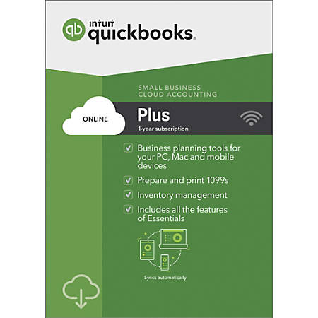 QuickBooks® Online Plus 2019, For PC And Apple® Mac®, Download Item #  9574268
