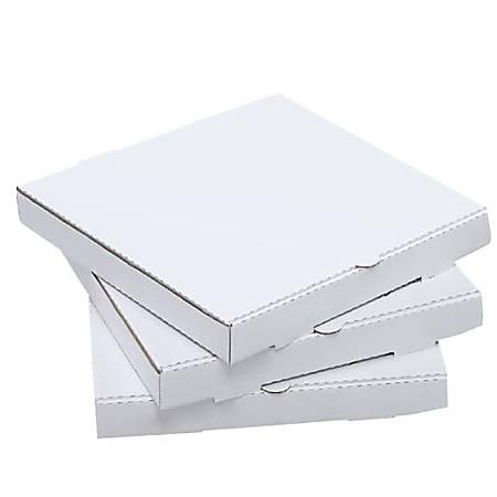 """Pizza Boxes, 12"""", White, Carton Of 50"""