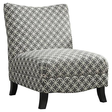 Monarch Specialties Carla Accent Chair, Gray
