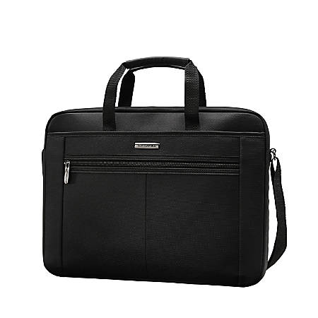 Samsonite 15 4 Single Gusset Computer Case Black Gray Item 957505