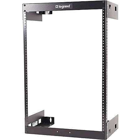 "C2G 30U Wall Mount Open Frame Rack - 12in Deep (TAA Compliant) - 19"" 15U Wide Wall Mountable for LAN Switch - Black Textured, Black Powder Coat - 200 lb x Maximum Weight Capacity"""