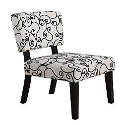 Taylor Accent Chair Black Swirl Office Depot