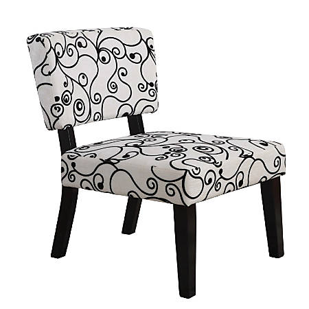 Surprising Linon Home Decor Products Taylor Accent Chair Black White Item 957851 Machost Co Dining Chair Design Ideas Machostcouk