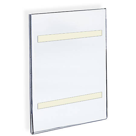 """Azar Displays Acrylic Sign Holders With Adhesive Tape, 17"""" x 11"""", Clear, Pack Of 10"""