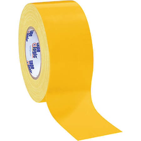 """Tape Logic® Color Duct Tape, 3"""" Core, 3"""" x 180', Yellow, Case Of 3"""