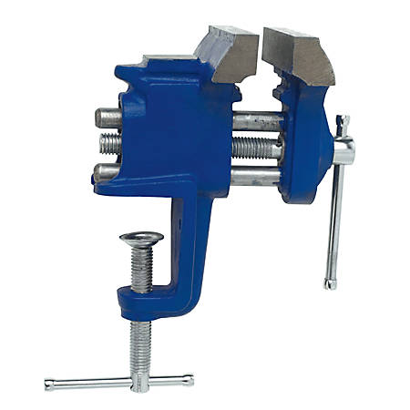 Clamp-On Vises, 3 in Jaw, 3 in Throat, Clamp-On Base