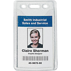 Office Depot Brand Prepunched Badge Holders