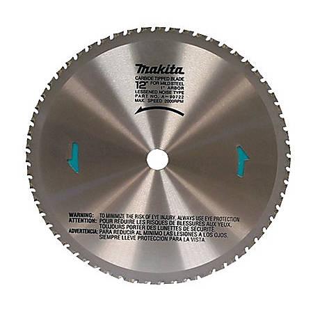 """Makita® Carbide Tip 60-Tooth Dry Cut Metal Blade, 12"""" Diameter"""