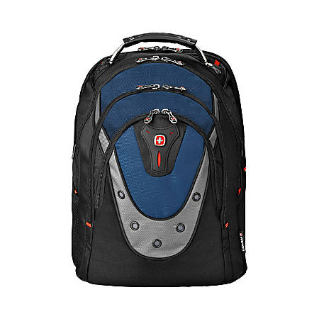 "SwissGear® Ibex Backpack With 17"" Laptop Pocket, Black/Blue"