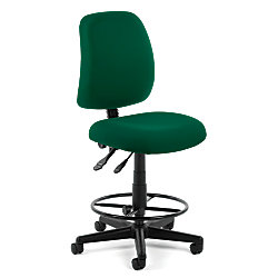 OFM Posture Series Fabric Task Chair With Drafting Kit, Green/Black