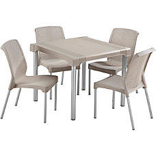 Rimax 5 Piece BreakroomLunch Room Table