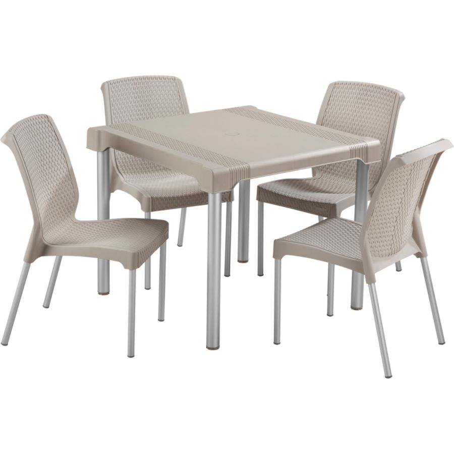 Rimax 5 Piece BreakroomLunch Room Table And Chairs Set Taupe By Office  Depot U0026 OfficeMax