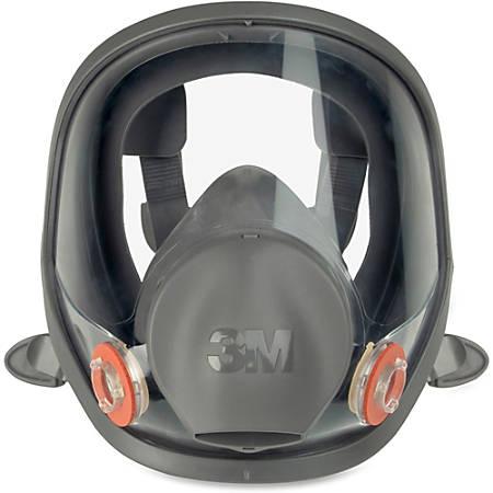 3M 6900 Full Fpiece Reusable Respirator - Lightweight, Comfortable, Reusable, Lens, Durable, Exhalation Valve - Particulate, Gases, Vapor, Debris Protection - Silicone Face Seal, Thermoplastic Elastomer (TPE) - Black, Gray - 1 Each