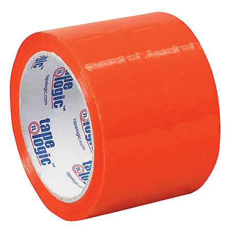 """Tape Logic® Carton-Sealing Tape, 3"""" Core, 3"""" x 55 Yd., Orange, Pack Of 24"""