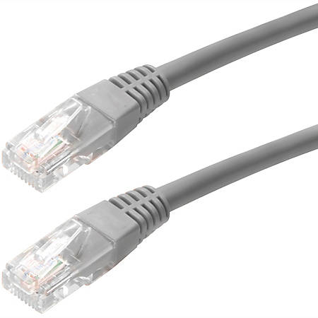 4XEM 50FT Cat5e Molded RJ45 UTP Network Patch Cable (Gray) - 50 ft Category 5e Network Cable for Network Device, Notebook - First End: 1 x RJ-45 Male Network - Second End: 1 x RJ-45 Male Network - Patch Cable - Gray - 1 Pack