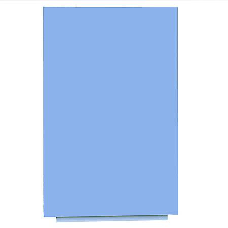 "Bisley Rocada Skin Magnetic Frameless Dry-Erase Board, Steel, 59-1/8"" x 39-7/16"", Blue"