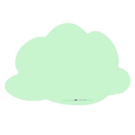 "Bisley Rocada Cloud Magnetic Frameless Dry-Erase Board, Steel, 45-5/16"" x 29-5/8"", Green"