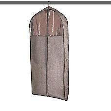 Realspace Gusseted Garment Bag BrownGrey
