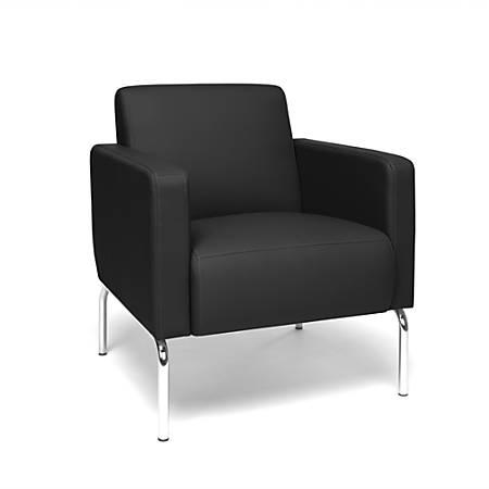 OFM Triumph Series Lounge Chair, Black/Chrome