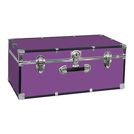 """Advantus Stackable Footlocker Trunk, 15-3/4"""" x 30"""" x 12"""", Purple"""