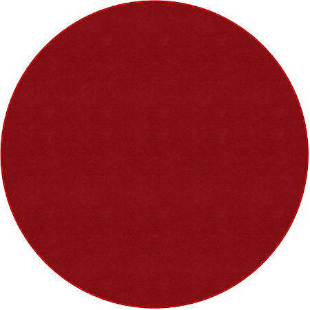 Flagship Carpets Americolors Rug, Round, 6', Rowdy Red