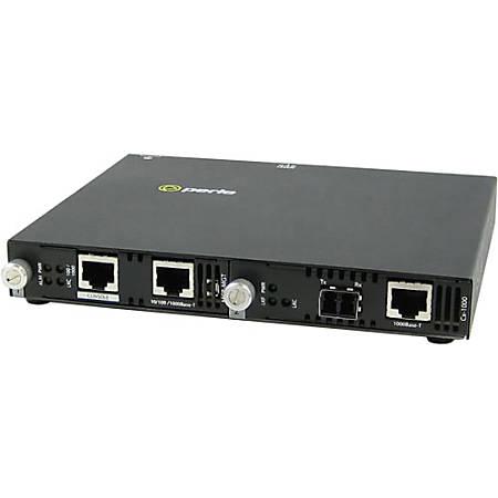 Perle SMI-1000-S2LC10 Gigabit Ethernet Media Converter - 1 x Network (RJ-45) - 1 x LC Ports - DuplexLC Port - Management Port - 1000Base-LX, 1000Base-T - External