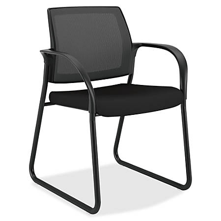 "HON Ignition Multi-Purpose Chair - Fabric Black Seat - Steel Frame - Sled Base - 25"" Width x 21.8"" Depth x 33.5"" Height"