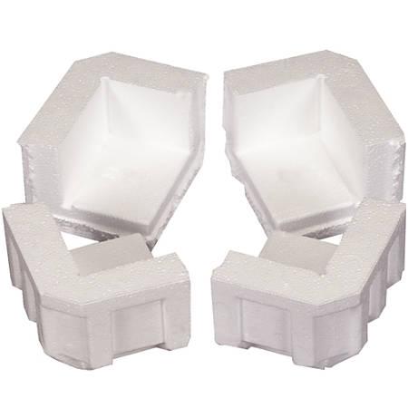 """Office Depot® Brand Foam Corners, 4 3/4""""H x 4""""W x 3 1/4""""D, White, Case Of 320"""