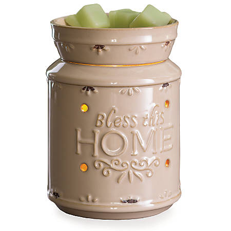"Candle Warmers Etc Illumination Fragrance Warmers, 8-13/16"" x 5-13/16"", Bless This Home, Case Of 6 Warmers"