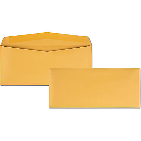 "Quality Park Kraft Regular Business Envelopes - Business - #14 - 5"" Width x 11 1/2"" Length - 28 lb - Gummed - Kraft - 500 / Box - Kraft"