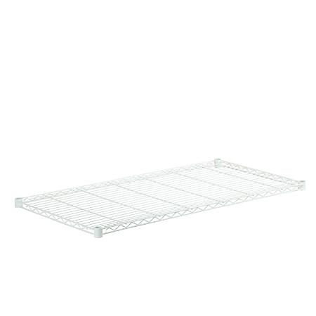 "Honey-Can-Do Powder-Coat Steel Shelf, 350-Lb Capacity, 1""H x 24""W x 48""D, White"