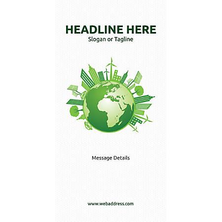 Custom Vertical Display Banner, Green World