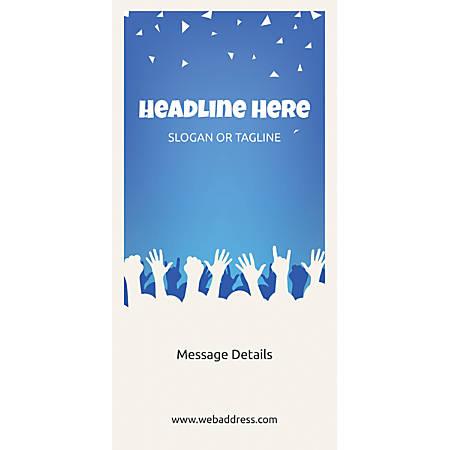 Custom Vertical Banner, Party Hands