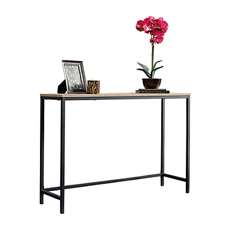 "Sauder® North Avenue Sofa Table, 28""H x 41-1/2""W x 11-1/2""D, Charter Oak/Black"