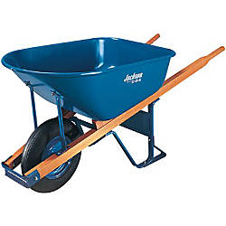 6CUFT STEEL TRAY CONTRACTOR WHEELBARROW