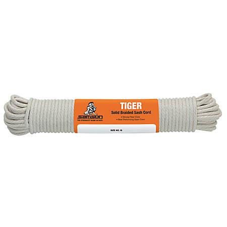 Tiger Sash Cord, 450 lb Cap., 100 ft, Cotton, White