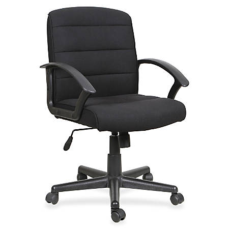 Lorell® Soho Fabric Task Chair, Black