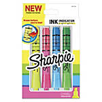 Sharpie® Ink Indicator Tank Highlighters, Chisel Tip, Assorted Fluorescent Colors, Pack Of 4 Highlighters