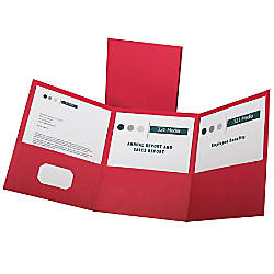 Oxford Tri Fold Executive Pocket Folders