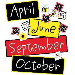 Barker Creek Calendar Month And Number