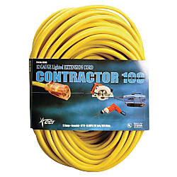 Southwire Vinyl Extension Cord 100 Yellow